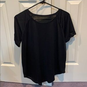 NWOT LULULEMON black semi sheer size 8 black T